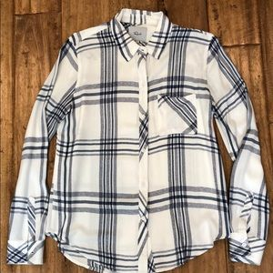 Rails blouse, blue & white, size Small, worn once